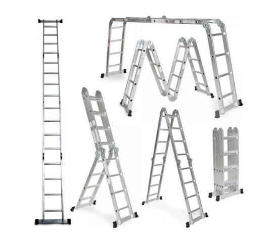 Escada de Alumínio Multifuncional 6 em 1 NOVAS