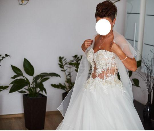 Suknia ślubna 36/38 + dodatki