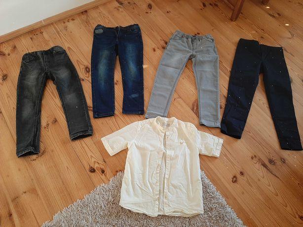 Zestaw spodni  134/140 plus koszula Zara