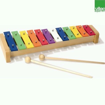 Metalowe drewniane cymbałki ksylofon VILAC