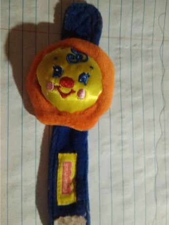 детский браслет игрушка солнышко на ручку малышу погремушка фирменная