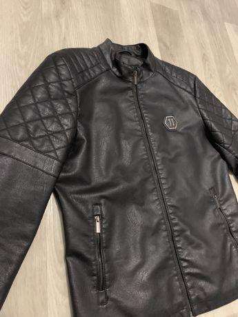 Кожаная куртка Boris Bidjan Saberi (аналог)