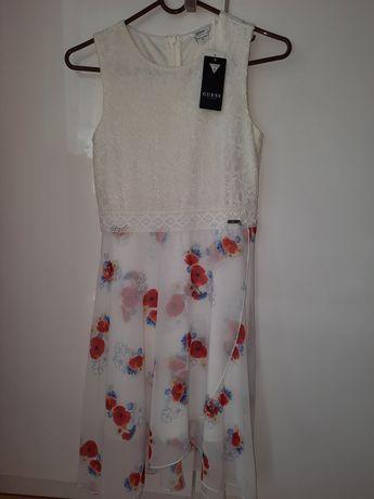 GUESS nowa oryginalna sukienka koronka szyfon 12 rozmiar 146 NOWA