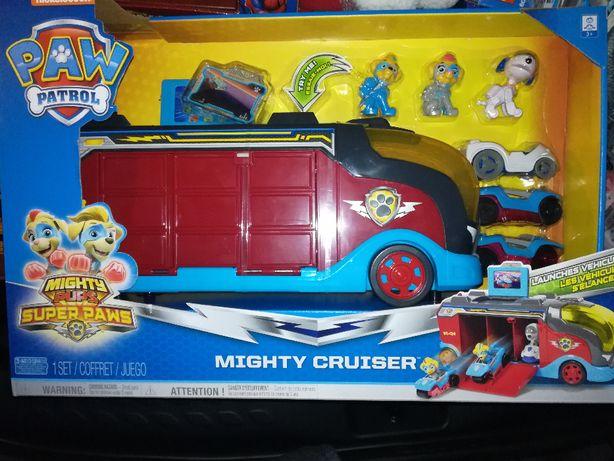 Psi Patrol, Mighty Cruiser, transporter, walizka na pojazdy