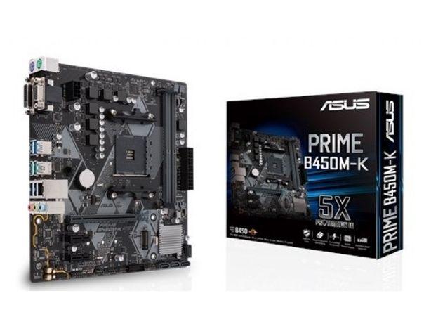 Материнская плата Asus B450M-K Prime(AM4)+AMD Ryzen 5 2600(и другие)