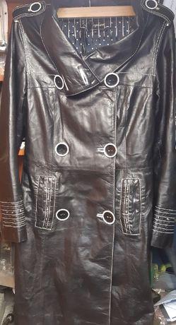 Płaszcz skórzany czarny rozmiar L