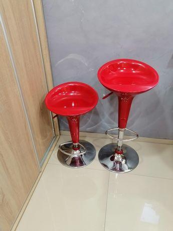 Hoker krzesła  czerwone