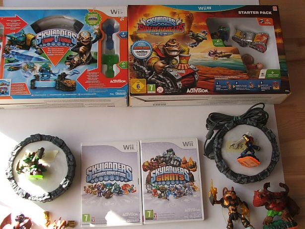 Skylanders Wii, WiiU Superchargers, Trap Team ,ZESTAW, tanio