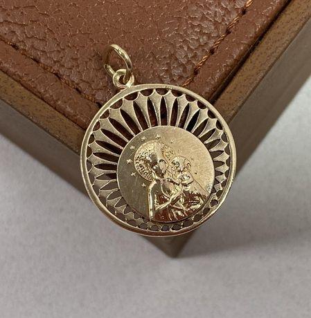 Piękna złota zawieszka z MATKĄ BOSKĄ 585 / 4,11G
