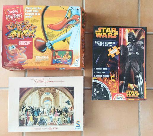 Jogos de tabuleiro e puzzles diversos