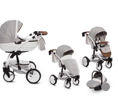 Wózek babyactive exclusive 3w1 odblaskowa gondola