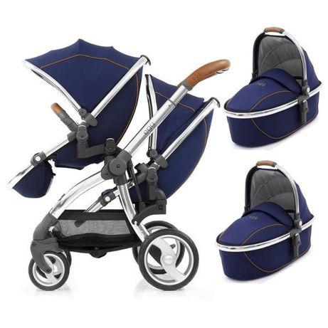Самая узкая коляска для двойни близнецов погодок Babystyle Egg Tandem