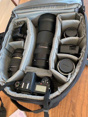 Nikon d7000 + 85mm + 10-20mm + 18-270mm
