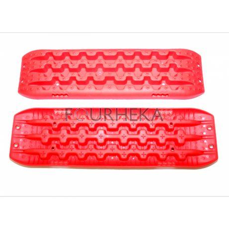 Kit Pranchas de Resgate para 4x4 Vermelhas