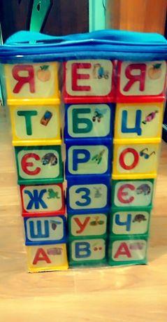 Кубики азбука украинская
