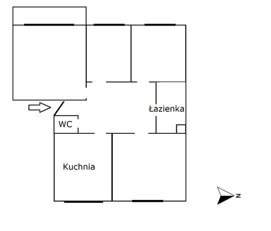 Mieszkanie 4 pokojowe 69.12m2 do remontu inwestycja ogrody antoniny