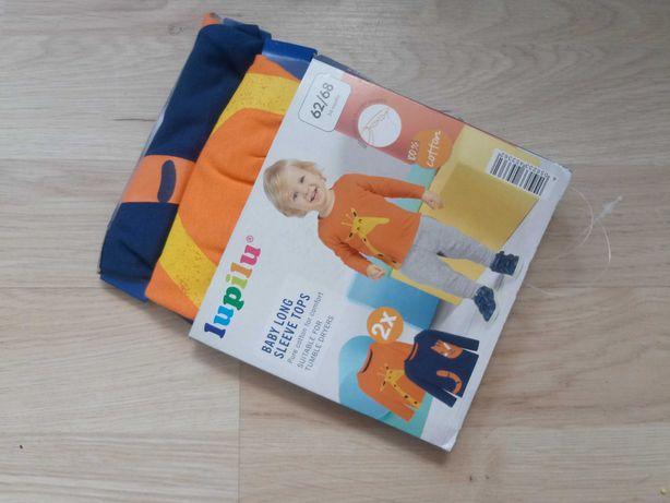 Nowa bluza bluzka bluzeczka dla chłopca 62 68 w zwierzątka lupilu