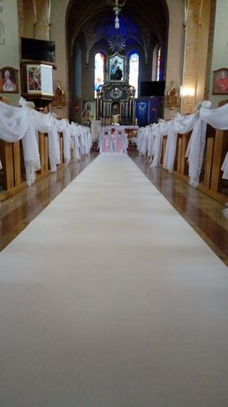 Biały dywan do kościoła i inne