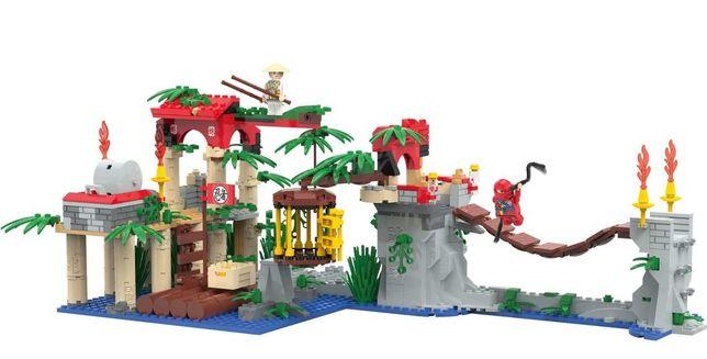 Большой конструктор Приключения ниндзя  Playtive Совместим с Lego