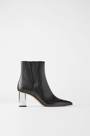 Кожаные ботинки Zara 37 размер