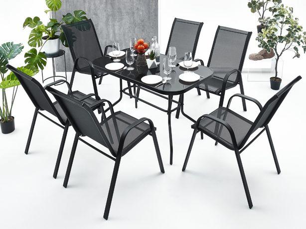 Meble ogrodowe zestaw stół 6+1 na taras balkon