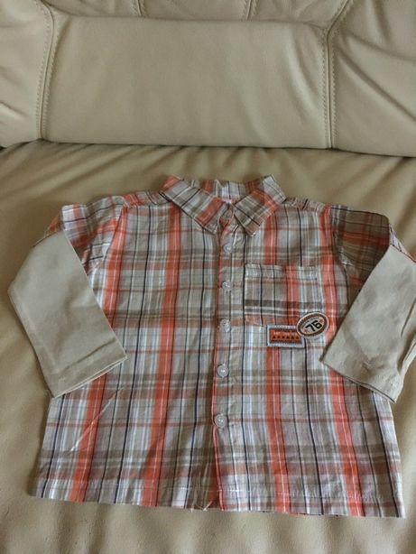 Koszula koszulka długi rękaw ubranie dla chłopca 74 rozm.