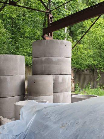 Кільця бетонні для колодязів, каналізаційні.