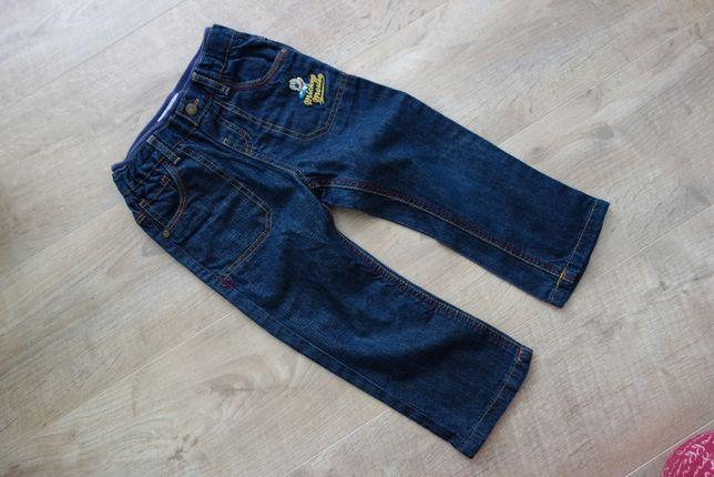 spodnie jeansowe C&A r. 92 myszka miki