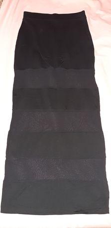Длинная юбка с прозрачными вставками