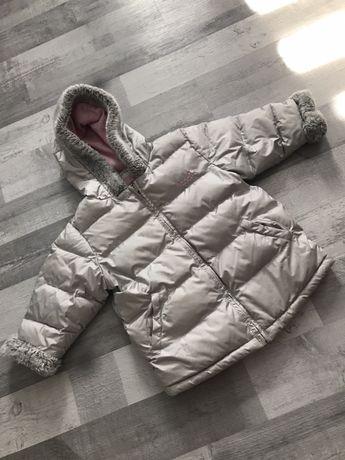 Srebna Zimowa kurtka Next dziewczeca 98 cm