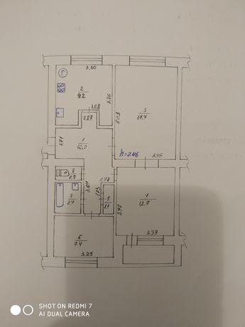 Продам 3 кімнатну квартиру смт. Котельва, 16000$.
