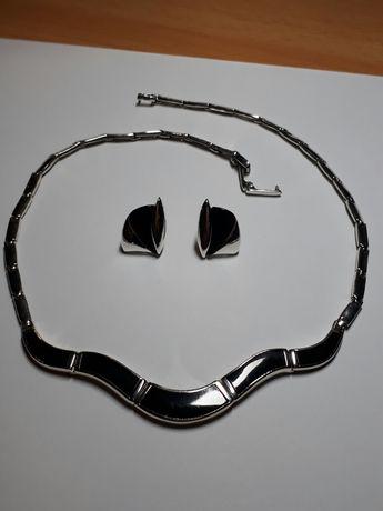Naszyjnik i kolczyki- srebro z onyksem