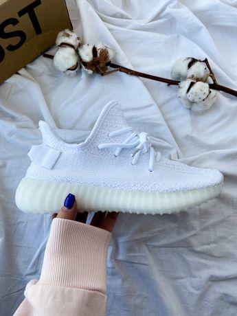 Yeezy 350 white белые кроссовки