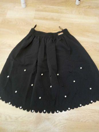 Школьная юбка пояс на резинке