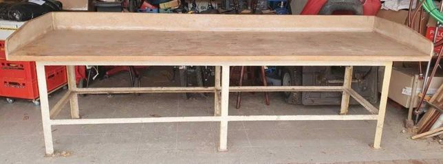 Stół z piekarni 3 m x 1 m ,blat drewniany 4 cm