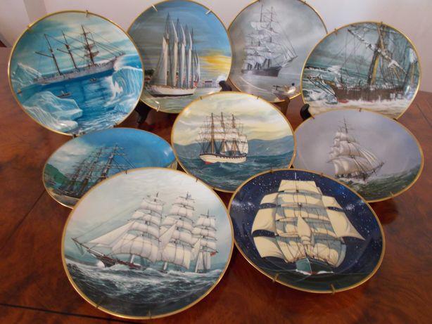 Pratos porcelana Os Últimos Grandes Veleiros