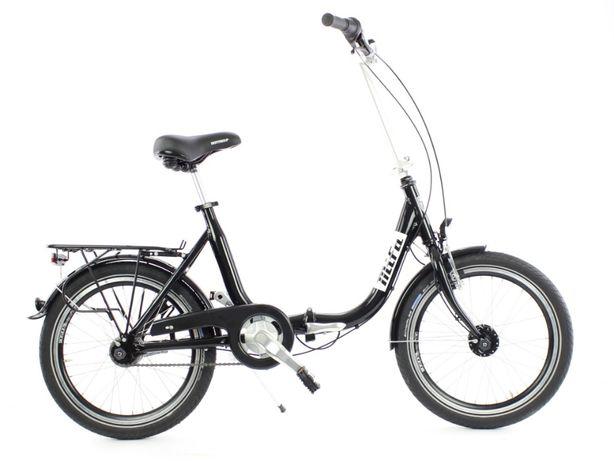 Aluminiowy rower składany SKŁADAK MIFA 7- biegów SHIMANO bagażnik