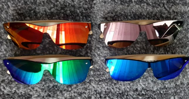 Okulary Drewniane Lustrzane Bambusowe UV400 Polaryzacja Jak Gepetto