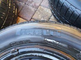 Opony + felgi stalowe koła VW 5x112 15 cali oryginalne 195/65/15