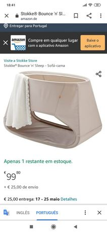 Mini berço Bounce 'n' sleep da Stokke