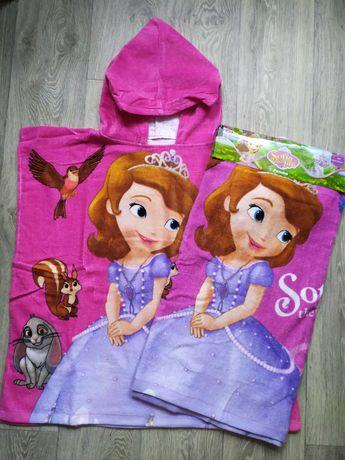 Распродажа.Шикарное пляжное полотенце пончо Disney для девочки
