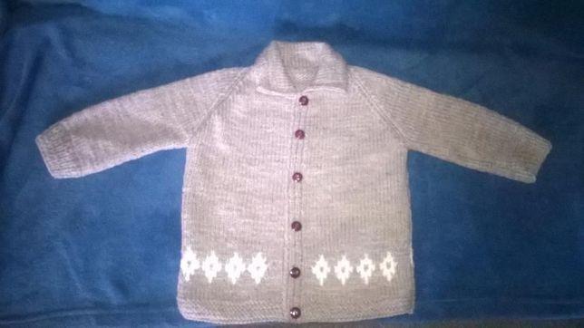 Sweter dla chłopca 98 rękodzieło urodziny prezent