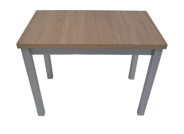 Stół Petarda 100x60x32 D.Sonoma. n.aluminium