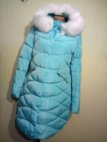 Куртка - пальто бирюза 48р.