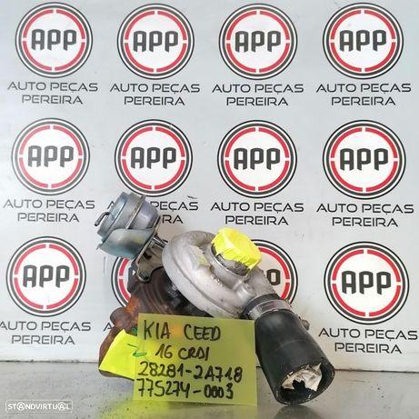 Turbo Kia Ceed de 2011 1.6 CRDI referência 28281- 2A718, 775254-003.
