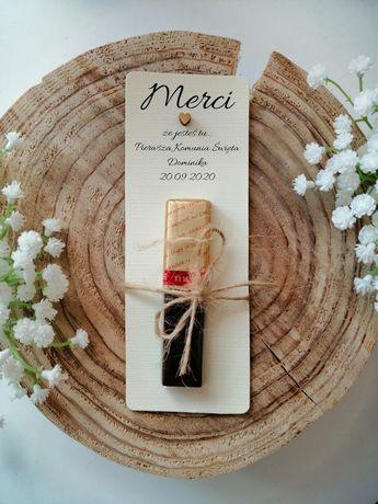 Merci dla gości podziękowanie ślub komunia, chrzciny, urodziny prezent