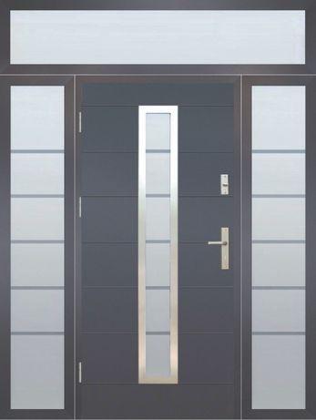 Drzwi zewnętrzne z naświetlami Wikęd Premium termo 142,5 x 228