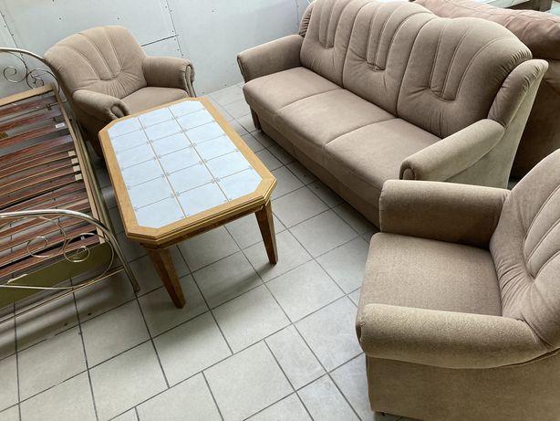 Zestaw wypoczynkowy/ wesrsalka i 2 fotele