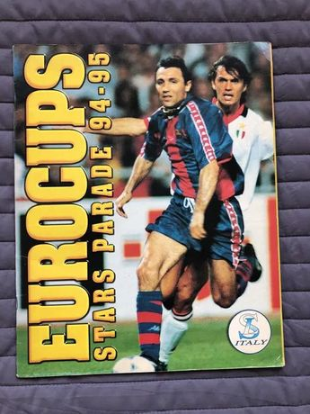 Caderneta Cromos Futebol Eurocups 94 Completa