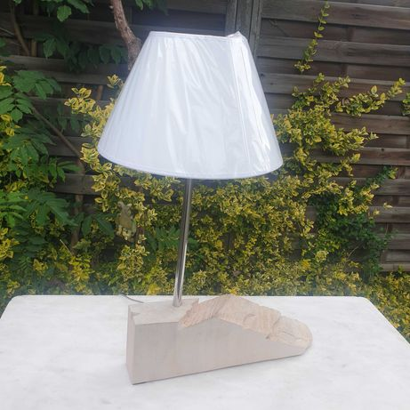 lampa drewno abażur
